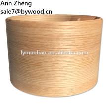 Chapa de madera de roble de un cuarto de corte natural de roble rojo natural para el piso de los muebles
