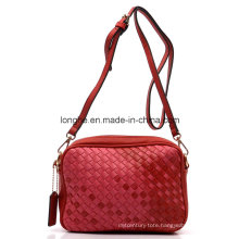 Fashion PU Weaving Ladies Shoulder Handbag (ZXS0036)