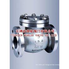 Válvula de retenção de aço inoxidável ANSI Swing (H44H-10/16/25)