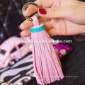 Quaste keychain für Beutelgroßverkauf Schlüsselringringlederschlüsselkette