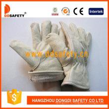 Зимние кожаные перчатки свиного зерна Dlh213
