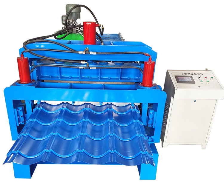 Double Tile Roll Forming Machine