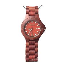 Reloj de madera de la nueva manera de alta calidad, madera 100% natural del reloj, reloj de madera de la muñeca