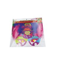 enfants bricolage plume parti papier masque
