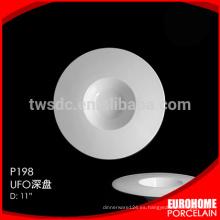 HRW302 hotel y restaurante segura plato/plato de cerámica, placa de porcelana seguro lavadora microondas