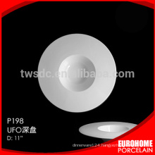 HRW302 hotel and restaurant used microwave safe ceramic plate/dish, washer safe porcelain plate