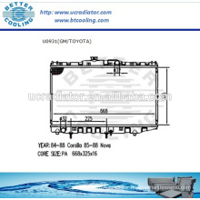 Auto Radiator For CHEVROLET NOVA 85-88/TOYOTA COROLLA 84-88 1.6L L4/1.8L L4 AT OEM:1640001011/01012/15190/15200