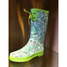 Size 36 Fashionable Ladies Half Rain Boots With Cute Bowknot