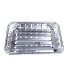 Sartén de parrilla de papel de aluminio para barbacoa