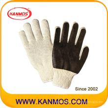 Baumwoll-nahtlose PVC-Palme Arbeitsschutzhandschuh (61008)
