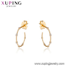 94739 Joint boucles d'oreilles pierres précieuses pavées boucles d'oreilles créoles en gros bijoux rétro pour les femmes