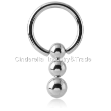 Surgical Steel Shinning Pendulum Ball Closure Ring
