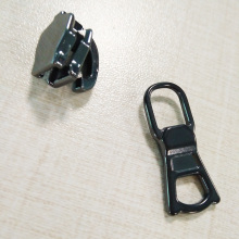 Mode Zipper Black Gunmetal Alloy Slider