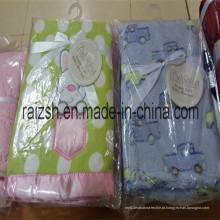 Cobertura saudável macia do bebê do Swaddle do toque macio macio do cobertor do velo do bebê