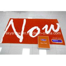 Реактивное печатное пляжное полотенце с подарочной коробкой (SST0325)