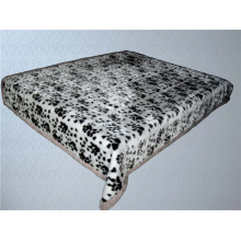 leopard print & carved cheap polyester blanket