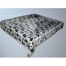 Impressão de leopardo e cobertor de poliéster barato esculpido