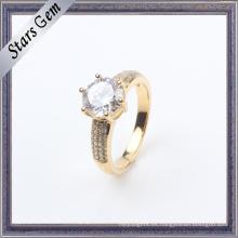 De moda de circonio cúbico de oro plateado joyas de plata de la boda de la manera