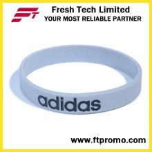 Kundenspezifisches Firmen-Werbegeschenk Silikon-Armband