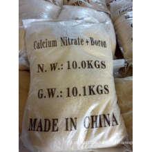 Nitrato de calcio amarillo de muestra libre con boro