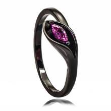 En gros indien noir bijoux cuivre outil en argent anneau conception pour fille