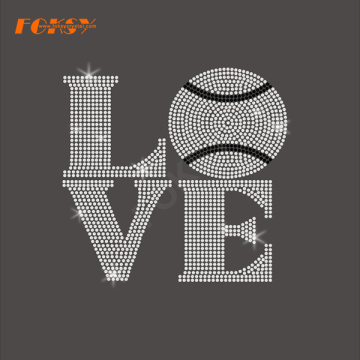 Love Ball Hot Fix Rhinestone Transfer Motif