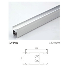Middle H Clamp Anodised Silver Aluminium Profile for Wardrobe