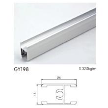 Médio H Clamp Anodizado perfil de alumínio de prata para guarda-roupa