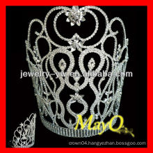 Elegent small decorative flower design crystal pageant tiara crown