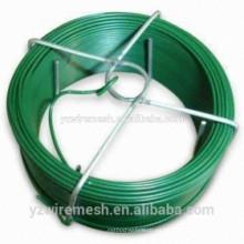 W - alambre empate recubierto de PVC / alambre de revestimiento revestido de plástico