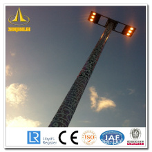Acier HDG High Mast Lamp Poles