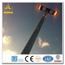 Aço HDG High Mast Lamp Poles