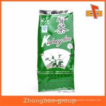 Pochette d'emballage de thé avec gousset côté matériel avec votre design