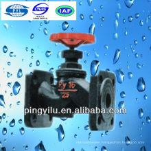 Gear box double flanged grey iron or cast iron manual PN16 J41F-16 globe valve