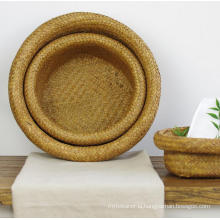 (BC-ST1071) Good Quality Pure Manual Cat Shape Natural Straw Basket