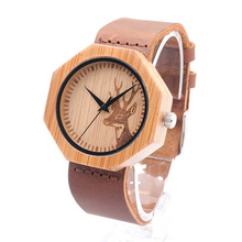 Nuevo reloj de moda de madera del movimiento del Japón de la protección del medio ambiente Bg451