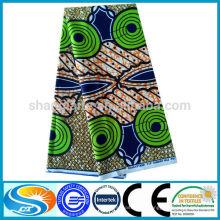 Modifica para requisitos particulares o el estilo existente de la manera del hotsale de la tela de la cera del algodón del diseño 100%