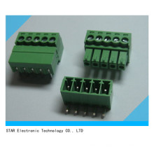 Screw Terminal Block Connector 3.81mm Angle 5 Pin Green Pluggable Type
