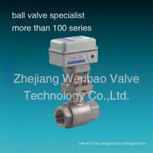 Válvulas de bola de acero inoxidable motorizadas eléctricas de 2 piezas