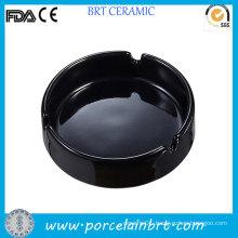 Round Black Ordinary Ceramic Cheap Ashtray