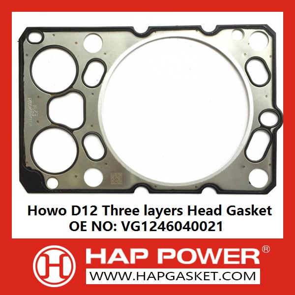HAP-HD-024 Howo D12 Head Gasket VG1246040021-E234-121000812500-3LAYERS-128