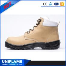 Nubuck Upper PU Sole Soft Upper Safety Footwear Ufb025