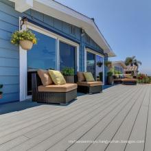 Co-extruded high quality wood plastic composite floor outdoor floor