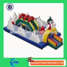 Happy gonflable fun city 0.55mm PVC gonflable park gonflable bouncer slide à vendre