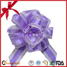 Custom POM POM Tire del arco para el empaquetado de la caja de regalo