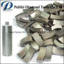 Segment de foret de noyau de diamant pour renforcer le trou de forage de noyau concret