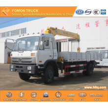 Dongfeng 4*2 truck with crane 5tons straight arm
