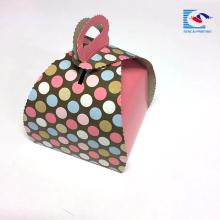 Boîte de papier de gâteau de papier d'art de catégorie comestible d'impression adaptée aux besoins du client