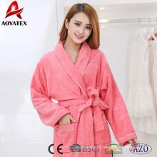 Venta caliente de lujo de algodón mujeres albornoz grueso