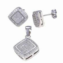 Fashion Fine Jewelry 925 Sterling Silber Schmuck Set Micro Einstellung